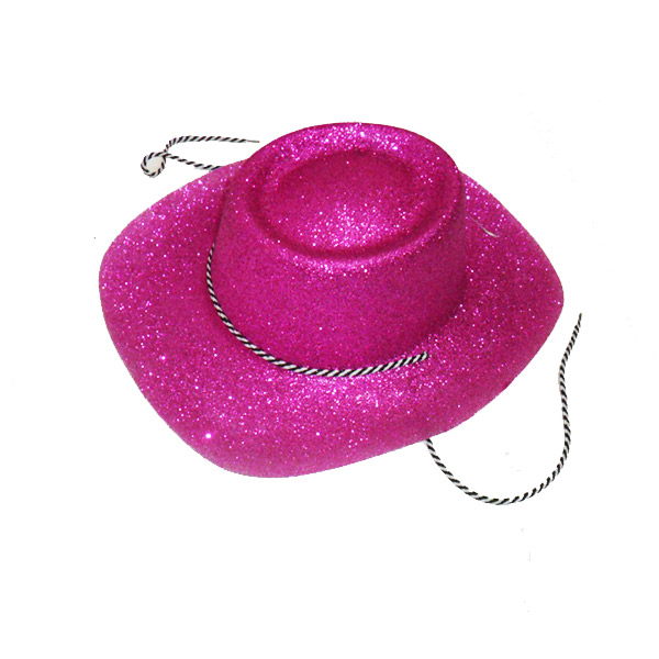 Cappello Lurex Texano Fuxia adulto