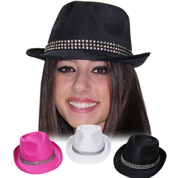Cappello Gangster con brillantini adulto